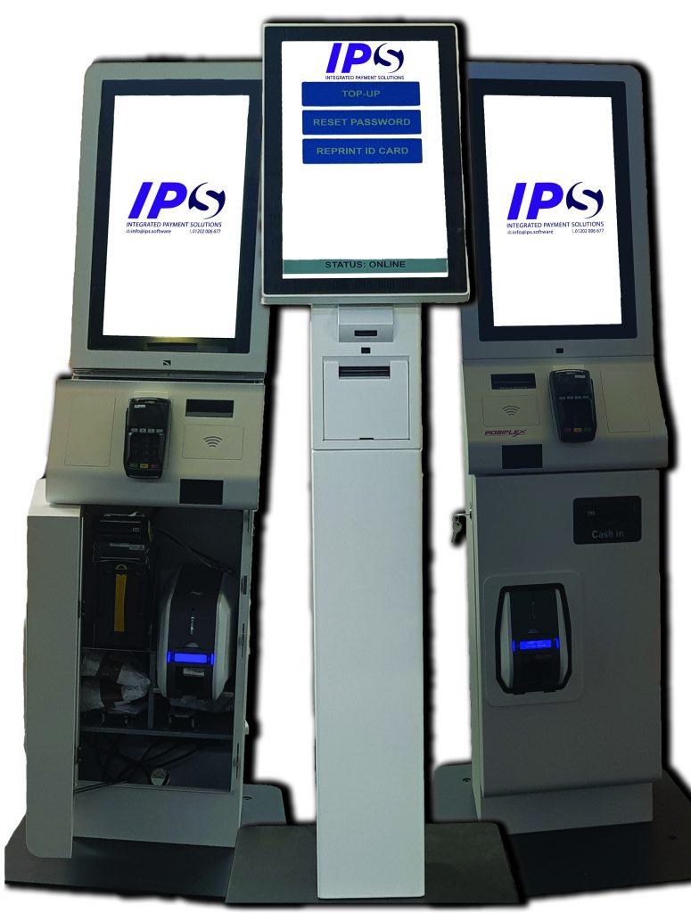 i-Kiosk – Self Service Kiosk Software, image shows three kiosks